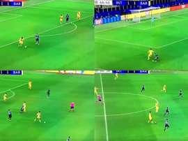 Todibo demostró en Milán por qué le fichó el Barça. Captura/MovistarLigadeCampeones