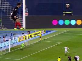 Ramos scored after Vrsaljko was thought to have handled the ball. Captura/La1