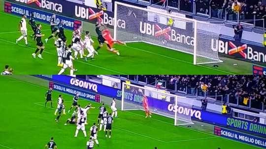 Et l'ange Buffon est apparu pour sauver la Juve. Capture/Movistar+