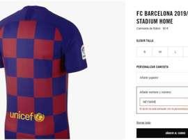 On peut acheter le maillot de Cristiano ou Mbappé, mais pas celui de Neymar. Capture/Nike
