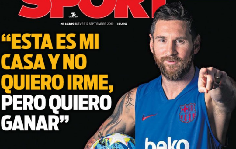 Messi committed to Barcelona on condition of success. Sport