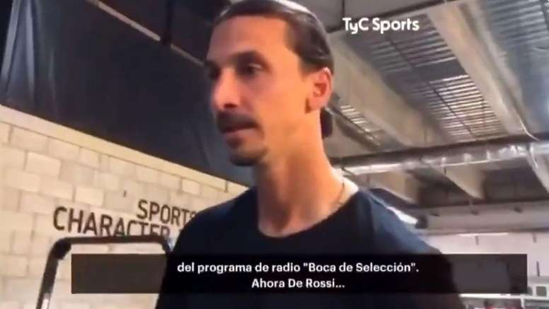 Interrogé sur Boca Juniors, Ibra répond à sa façon. Capture/TyCSports