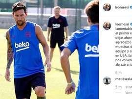 Messi desfalca o Barça nos EUA. Instagram/Captura/LeoMessi