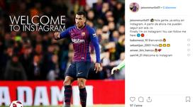 Primera publicación de Murillo en Instagram. Instagram/JeisonMurilo01