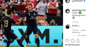 Capture de la publication de Bale après avoir marqué face à Arsenal. Capture/Instagram