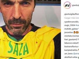 Buffon ha reso omaggio a Emiliano Sala. Instagram/gianluigibuffon