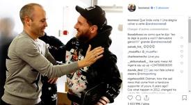 A De Jong le gustó una imagen de Messi e Iniesta. Instagram/LeoMessi