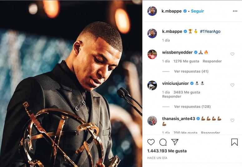 Vinicius sigue cultivando su amistad con Mbappé. Instagram/k.mbappe