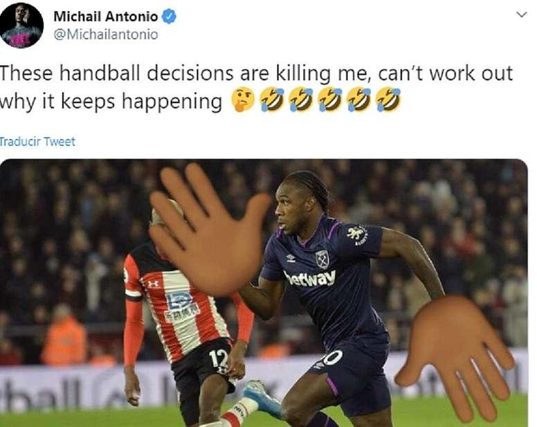 Antonio had another goal disallowed. Captura/MichailAntonio