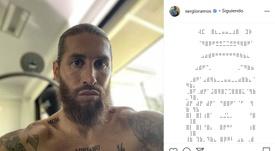 A nova tatuagem de Ramos homenageando seu quarto filho. Instagram/SergioRamos