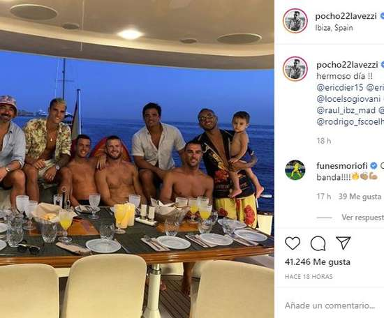 Several Premier League players broke the social distancing rules. Instagram/pocho22lavezzi