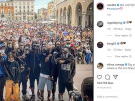 Balotelli se une a um protesto por George Floyd. Instagram/mb459