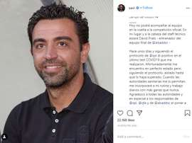 Xavi Hernandez tests positive for COVID-19. Instagram/xavi