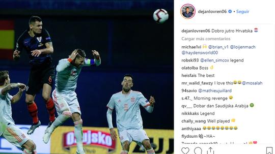 Lovren está disfrutando de su particular venganza. Instagram/dejanlovren06