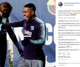 Malcom não encara o Eibar. Instagram/malcomoliveira_97