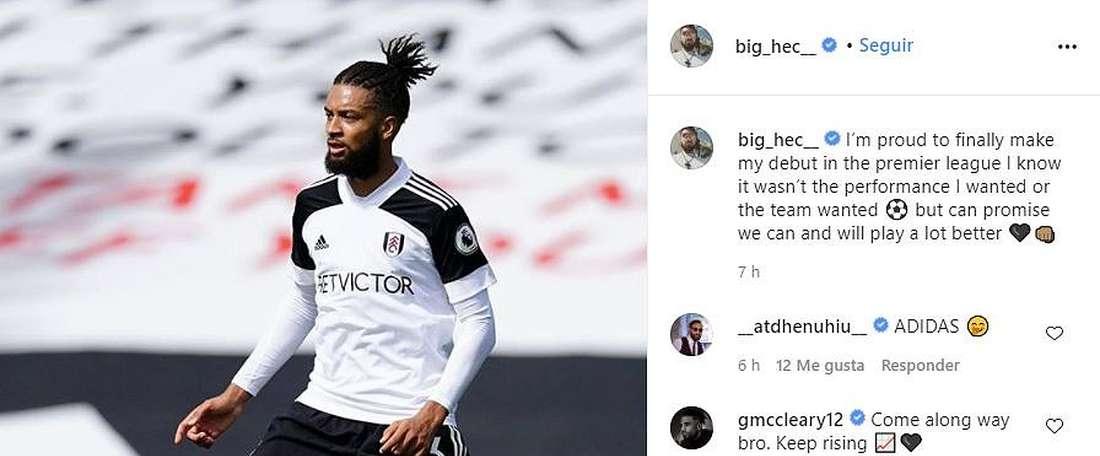 Débuts en Premier League pour le joueur le plus prêté d'Europe. Capture/Instagrambig_hec_