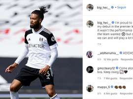 Hector made his Premier League debut. Instagram/big_hec__