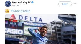 Villa se convirtió en histórico en el conjunto estadounidense. Twitter/NYCFC