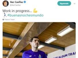Iker prévoit de prendre une décision en 2020. Twitter/IkerCasillas