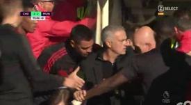 José Mourinho Chelsea ante el Manchester United. Captura/Select