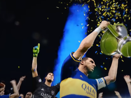 Boca levantou a taça no PES 2020. Captura/BocaJrOficial