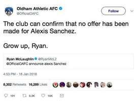 Ryan McLaughlin no se esperaba esta respuesta de su propio club. Twitter