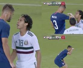 Miazga and Lainez confronted one another. Capturas/ESPN