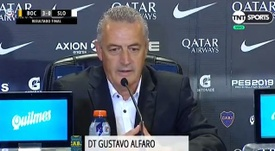 Alfaro elogió el rendimiento de Villa. Captura/TNTSports