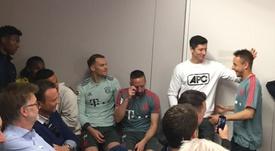 Ribéry a été le plus touché. Capture/FCBayernTV