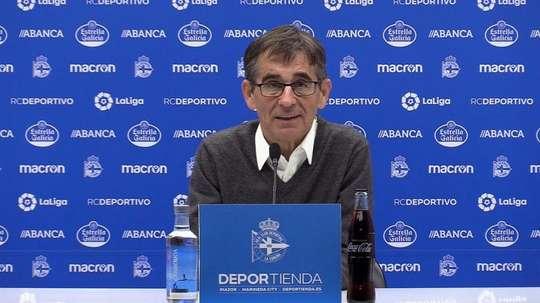 Fernando Vázquez avisó del riesgo de una posible relajación. RCDeportivo