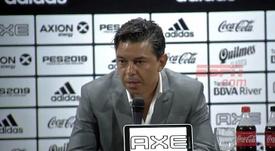 Gallardo, entre el enfado por Rojas y la alegría de la victoria. Captura/ESPN