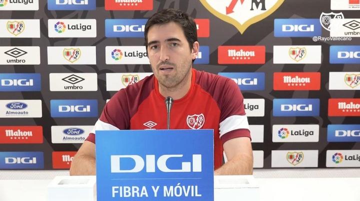 Iraola expresó que Falcao irá convocado para el duelo ante el Getafe. YouTube/RayoVallecanodeMadrid