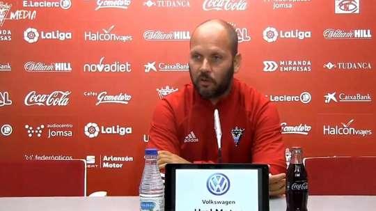 José Alberto López señaló las cualidades del Tenerife. Captura/CDMirandés