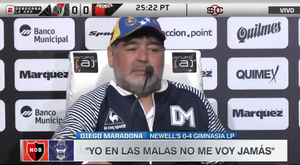 Maradona, sobre ser el relevo de Alfaro. Captura/ESPN