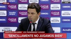 Gallardo habló sobre el partido en Brasil. Captura/ESPN