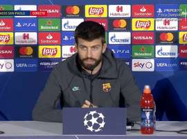 Piqué en conférence de presse avant Naples. Capture/FCBarcelona  Add video