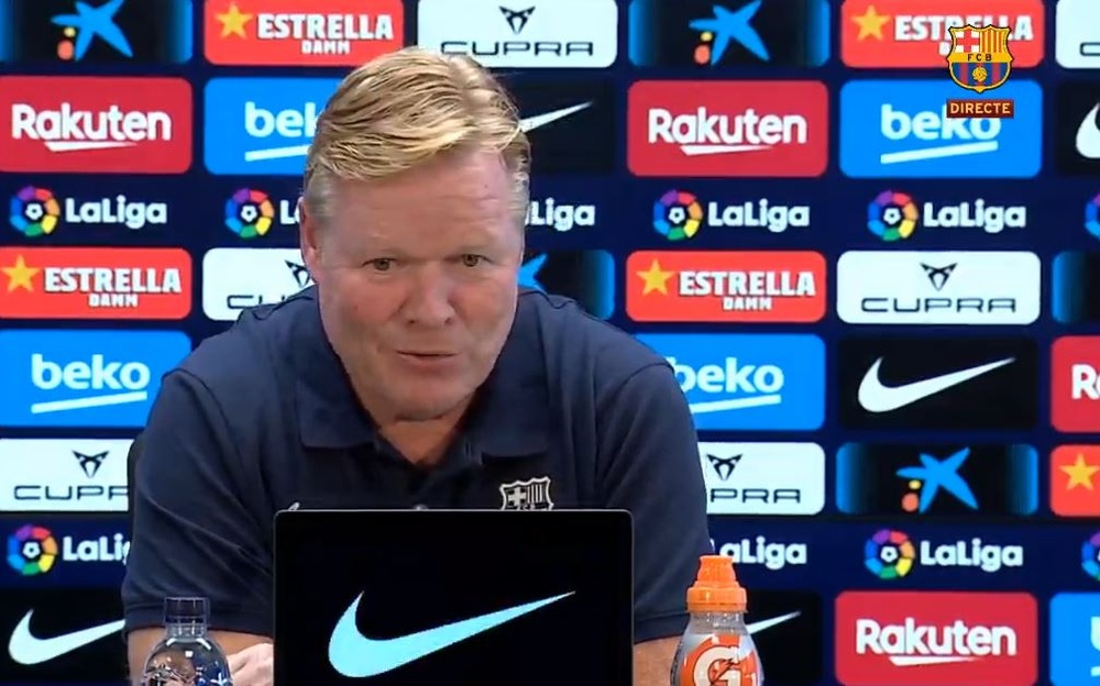 Koeman in conferenza stampa. BarçaTV