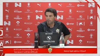 Rubi analizó al Tenerife y apuntó que necesitarán paciencia para derrotarle. Twitter/U_D_Almeria