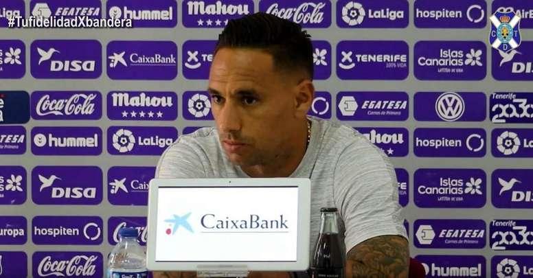 Suso jugará la octava temporada consecutiva con el Tenerife. Captura/YouTube/CDTenerife