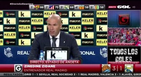 Zidane spoke of Gareth Bale with a foreboding tone. Screenshot/GOL