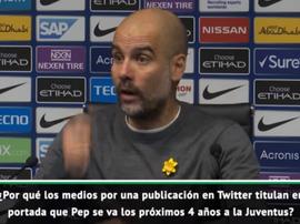 Pep Guardiola afastou os rumores da sua saída. Captura/ASTV
