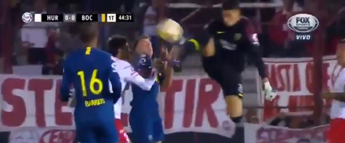 Andradra, le ninja de Boca Juniors. capture/FoxSports