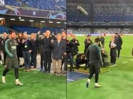 O Napoli cutuca Messi. Twitter/SSCNapoli