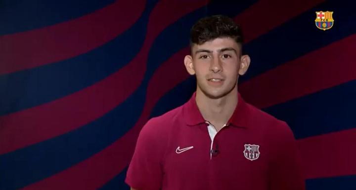 Demir a fait ses débuts dans l'équipe première du Barça. Captura/FCBarcelona