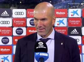Zidane en conférence de presse. Capture/Movistar+