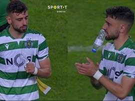 Las lágrimas de Bruno Fernandes que anticipan su fichaje por el United. Captura/SporTV