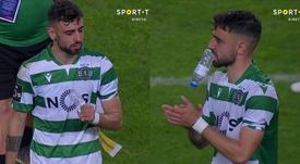 As lágrimas de Bruno Fernandes. Captura/SportTV