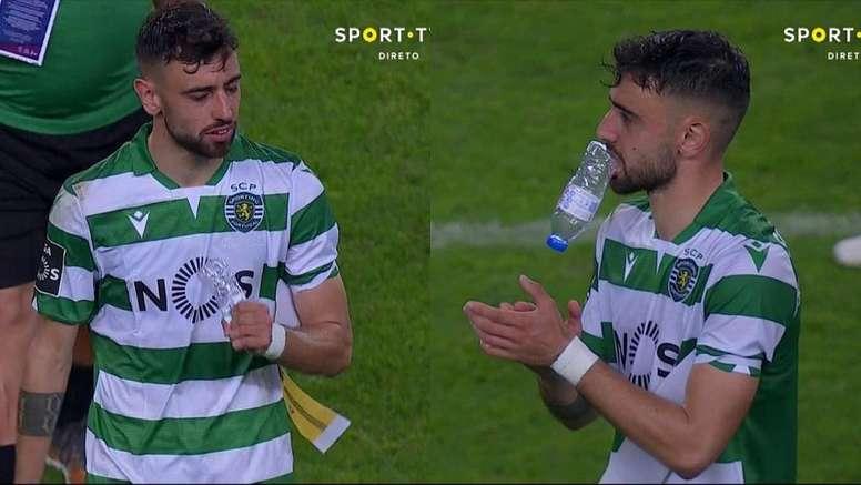 Bruno Fernandes vers United ? Capture/SporTV