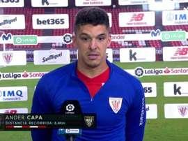 Capa habló del árbitro tras el partido ante el Sevilla. Captura/Movistar+