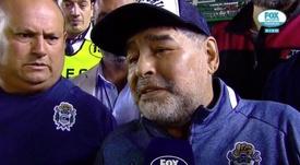 Maradona revienta contra el árbitro. Captura/FOXSports